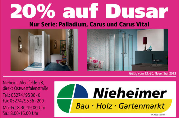 nieheimer baumarkt angebot. Black Bedroom Furniture Sets. Home Design Ideas